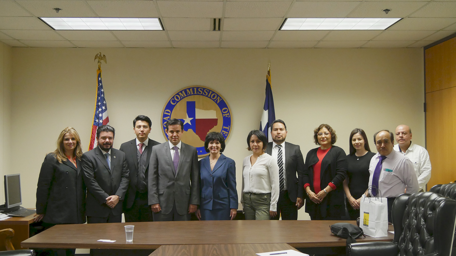 Railroad Commissioner Christi Craddick meets with energy officials from Mexico.